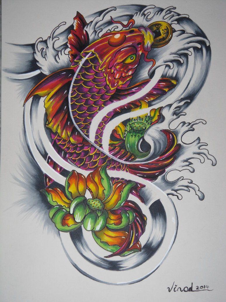 Hình Xăm Cá Chép Hóa Rồng đẹp Và ấn Tượng (3)