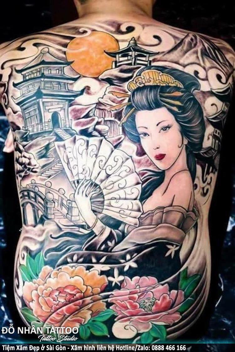 Hình Xăm Geisha đẹp (2)