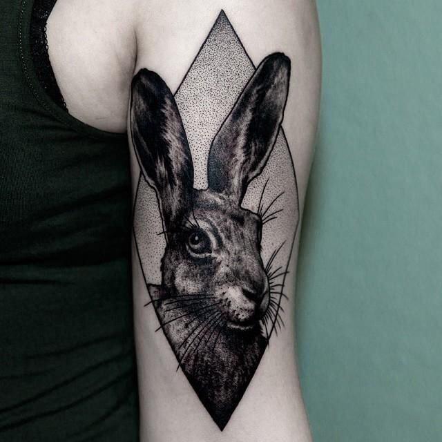 Hình Xăm Thỏ Playboy đẹp (10)