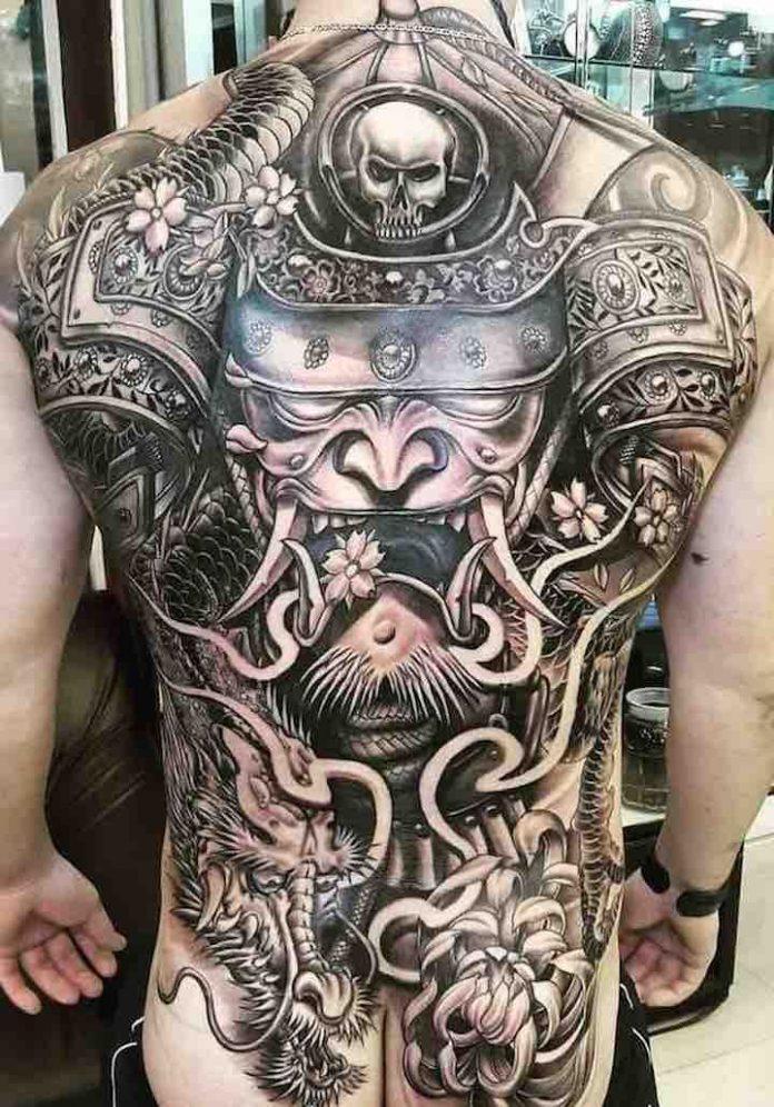 Chiêm ngưỡng 369 hình xăm Samurai mặt quỷ đẹp nhất